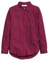 H&M Flannel Shirt - Light blue - Ladies