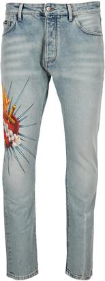 Palm Angels Sacred Heart 5 Pockets Jeans
