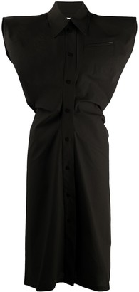Bottega Veneta Exaggerated Shoulder Dress
