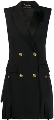 Versace Double-Breasted Pleated Waistcoat