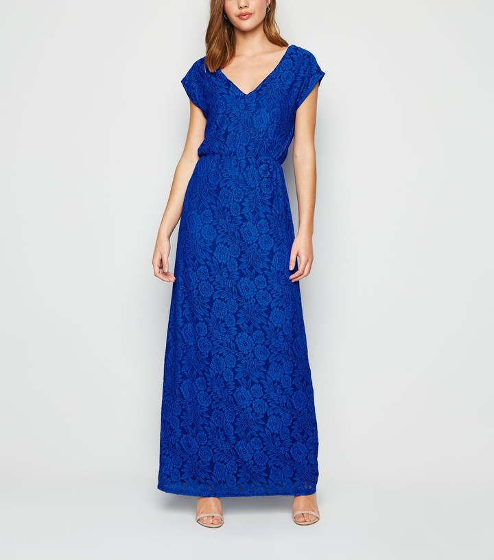 New Look Mela Bright Lace Maxi Dress