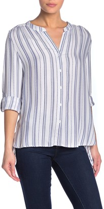 Velvet Heart Zelina Split Collar Stripe Shirt