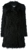Jeremy Scott textured fur coat