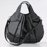 Elle™ Faux-Patent-Leather Satchel