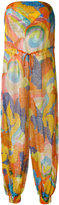 Missoni printed strapless jumpsuit - women - Polyester/Viscose - 40