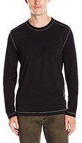 Agave Men's Chanz Long Sleeve Color Black Baseball T-Shirt