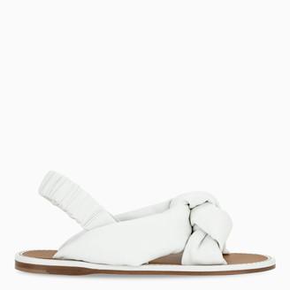 Miu Miu White knotted sandals
