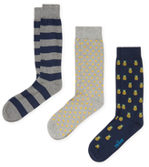 The Tie Bar Assorted Print Socks (3 PK)