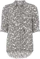 Dorothy Perkins Petite Ivory Printed Shirt