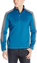 Calvin Klein Men's Long Sleeve 1/4 Zip Heavy Stretch Interlock Color Sweatshirt