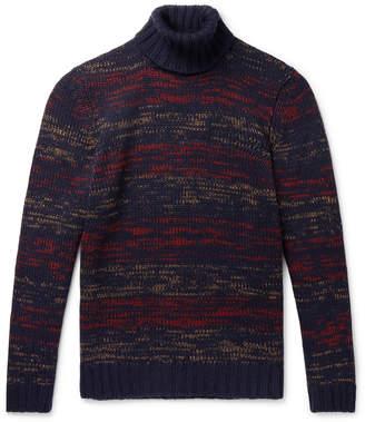 NN07 Frankie Melange Merino Wool-Blend Rollneck Sweater