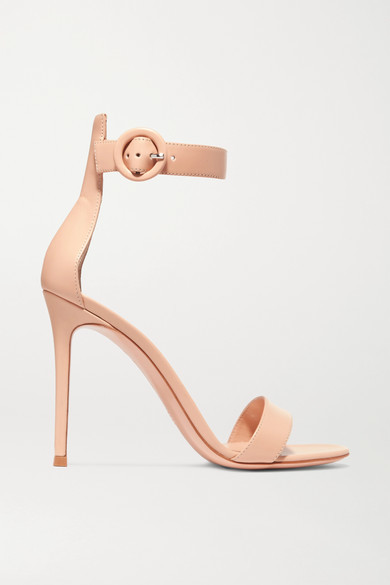 Gianvito Rossi Portofino 110 Leather Sandals - Neutral