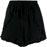 RED Valentino frilled trim drawstring shorts