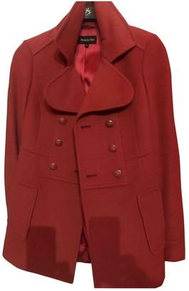 Patrizia Pepe Red Wool Coat for Women