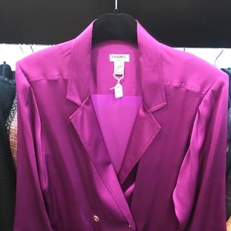 Chanel Purple Silk Jackets
