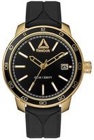 Reebok Forge 1.0 Ion-Plated Stainless Steel and Silicone Warrior Black Strap Watch