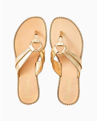 Lilly Pulitzer Womens McKim Leather Sandal