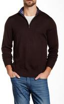 Tailorbyrd Brown U Quarter Zip Wool Sweater
