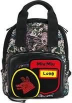 Miu Miu Small floral tapestry backpack