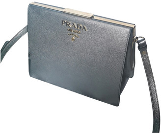 Prada Silver Leather Handbags