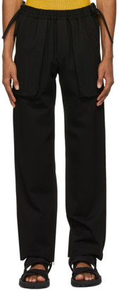 Situationist SSENSE Exclusive Black Side String Trousers