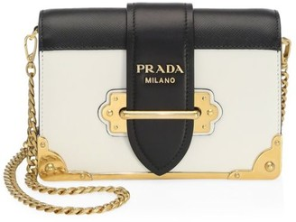 Prada Small Cahier Leather Crossbody Bag