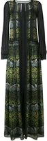 Alberta Ferretti sheer printed maxi dress