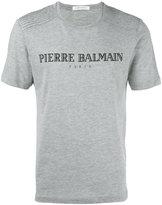 Pierre Balmain logo print T-shirt - men - Cotton/Polyester - 50