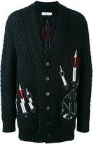Valentino embroidered cardigan - men - Acrylic/Polyamide/Mohair/Virgin Wool - XS
