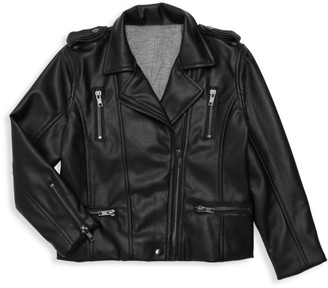 Chaser Little Kid's Vegan Leather Biker Jacket