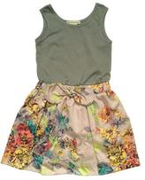 Anthem of the Ants Picnic Dress in Neon Floral Combo
