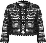 River Island Womens Black lace bolero jacket