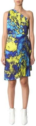 MSGM Asymmetric Pleated Dress