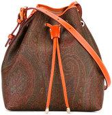 Etro bucket crossbody bag - women - Cotton/Calf Leather/Acrylic/PVC - One Size