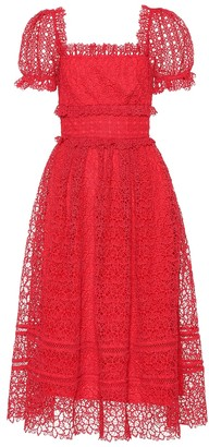 Self-Portrait Self Portrait Guipure lace midi dress