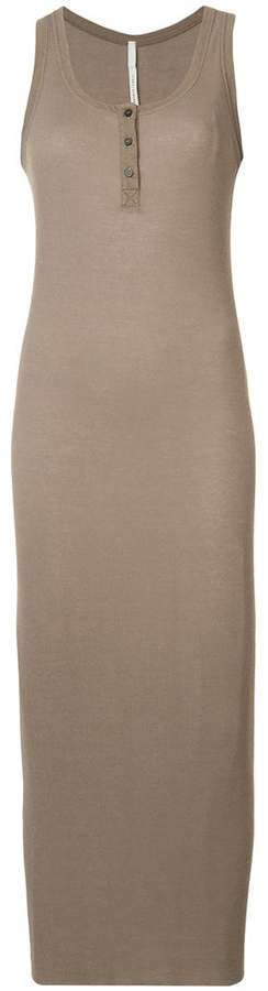 Isabel Benenato sleeveless ribbed henley dress