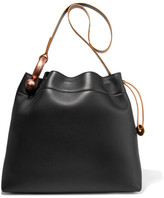 Tom Ford Hook Leather Tote - Black