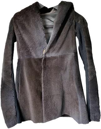 Rick Owens Brown Fur Coat for Women