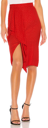 1 STATE Ruffle Front Tonal Leopard Pencil Skirt