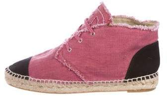Chanel CC Cap-Toe High-Top Espadrilles