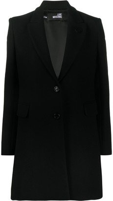 Love Moschino Single-Breasted Fitted Coat