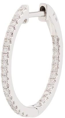 Jacquie Aiche 14kt White Gold Diamond Hoop Earring