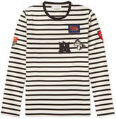Alexander Mcqueen - Slim-fit Appliquéd Striped Cotton-jersey T-shirt