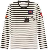 Alexander McQueen Slim-Fit Appliquéd Striped Cotton-Jersey T-Shirt