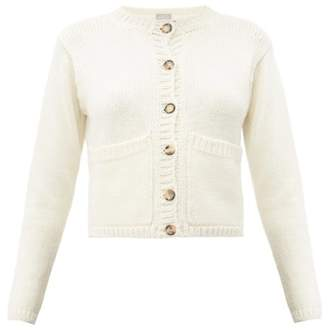 Margaret Howell Patch-pocket Merino-wool Cardigan - Womens - Ivory