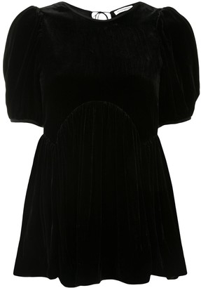 Cecilie Bahnsen Kastan peplum blouse