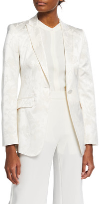 Etro Floral Jacquard Tailored Blazer
