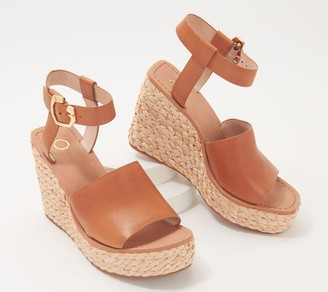 Louise et Cie Leather Two-Piece Wedges - Paley