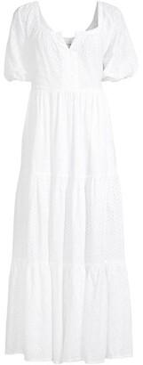 Zara Eyelet Maxi-Dress