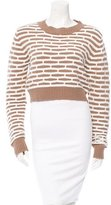 Nomia Cropped Honeycomb Sweater